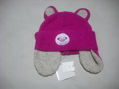 wb544 ROXY ロキシー 耳当て付き ニット帽 ピンク