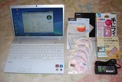 白く可愛VAIO AMDデュアル2.3G/500G/Win10/ブルーレイ/地デジ159