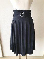[ZARA BASIC]★スエード生地・膝丈スカート・サイズ[EUR(S)]★