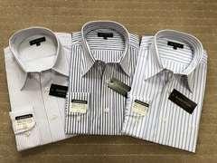 長袖ワイシャツ新品 ストライプ(4)3枚セット Mサイズ