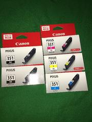 未使用 キャノンPIXUS 351 純正インクカートリッジ♪5本セット