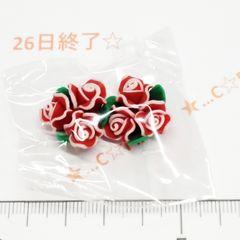 26*�@スタ*樹脂ビーズ 縁取り薔薇ブーケ 37