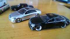 ベンツSクラスW221DUB2台ミニカー550ロング
