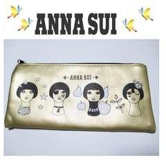 【ANNA SUI】アナスイ ゴールドポーチ手持ち付き ノベルティ