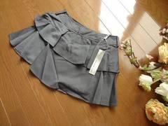 新品Dress upグレー ティアード スカート ミニMミニスカート