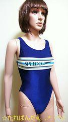 美品☆SPEEDO☆L☆ハイレグ&リブ素材の競泳水着1634☆3点で即落