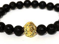 【新品・未使用】数珠 GOLD LION ライオン【獅子】ブレスレット