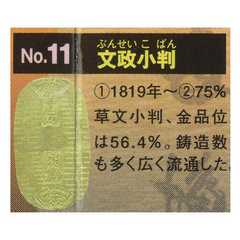 古銭コレクション 第3弾 日本の金貨 文政小判 ガチャポン フィギュア