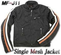 【新品】モトフィールドMF-J11シングルメッシュジャケット 黒L肩/肘/脊髄パッド付