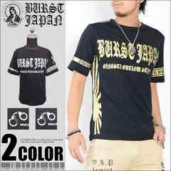 メール便送料無料【MAD BURST JAPAN】70741Tシャツ黒金L