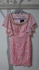 S ドレスワンピース Jewels ピンク フレアスリーブ 新品 J16504