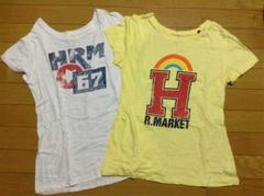 HRM ハリウッドランチマーケットプリントTシャツ2枚セット