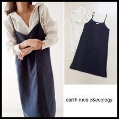 〇2点セット〇earth music&ecology キャミワンピース&ストライプゆるシャツ