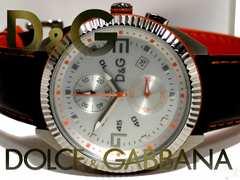 極美品【箱付き】1スタ★ドルガバ D&G【クロノ】大型 腕時計