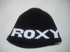 wb654 ROXY ロキシー ニット帽 ビーニー 黒