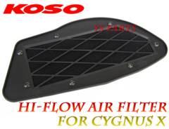 [吸気効率UP]KOSO新型ハイフロースポーツフィルター シグナスXキャブ/FI車両対応