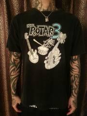 即決ROTARギタードラムウッドベースTシャツ!パンクロックバイカーROLLジョニースペード
