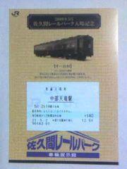 佐久間レールパーク入場記念09・5