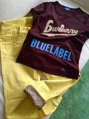 BURBERRYブルーレーベル/パンツ、カットソー2点setホース刺繍付