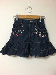 Mezzo Piano デニムスカート size130