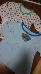 130�p長袖シャツ2枚組 男の子ブルー