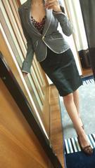 BOSCH膝丈スカート黒サイド編み上げ