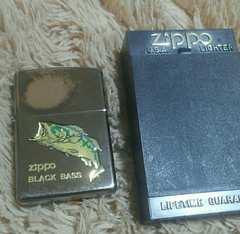 ZIPPO ジッポ ブラックバス 塗料剥げ ケース付き