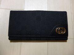 GUCCI グッチ GG柄 Gプレートの二つ折り長財布
