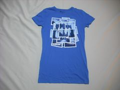 mq510 女 ZOO YORK ズーヨーク 青 Tシャツ Mサイズ