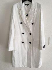 新品タグ付riendaリエンダ14580円スプリングコートジャケットトレンチコート白ホワイトロング