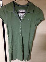 アメリカンイーグル ポロシャツ AMERICAN EAGLE 緑