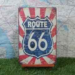 新品【ブリキ看板】ROUTE66/ルート66 America