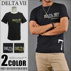メール便送料無料【DELTA】Tシャツ70643新品黒銀M
