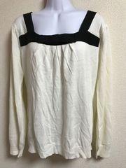★新品大きいサイズ 4L Jinnee 胸元リボン調×白ニット★