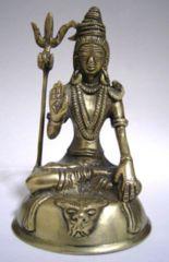 ☆即決☆真鍮製・シバ神像 13.2センチ