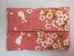 和小物 和柄ティッシュケース桜うさぎピンク