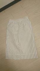 Mプルミエ★ストライプタイトスカート☆サイズ36★定形外250円orレターパック360円