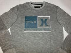 USA購入 ハーレー【Hurley】ロゴ スウェットトレーナーUS S 灰系