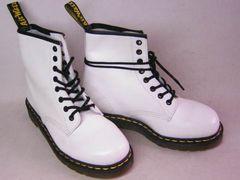 ドクターマーチンDrMartens新品8ホールブーツ1460WHITE白uk4