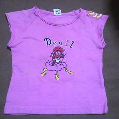 Right-onピンク刺繍Tシャツ90�p