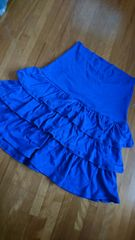 新タグ 大きいサイズL〜 2way 3段フリル スカートにもベアトップにも 紫