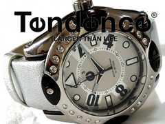 極美品 1スタ★テンデンス/TENDENCE ジルコニア 腕時計