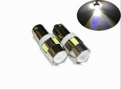 12/24V兼用 LED BA9S ホワイト 6連 2個セット 5630