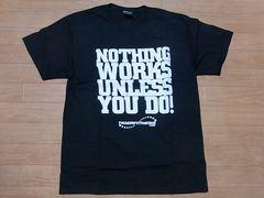 即決!USA古着●鮮やかロゴデザイン半袖TシャツL黒★ビンテージ