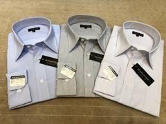 新品・長袖ワイシャツ ストライプ(い)3枚セット Mサイズ