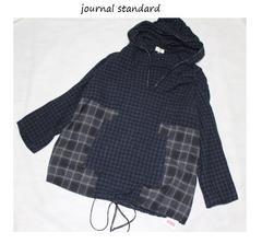 ジャーナルスタンダード*journal standardチェック&チェックフードプルオーバー新品