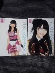 送込柏木由紀AKB48オフィシャルショップ限定A4サイズ生写真ポスター9枚