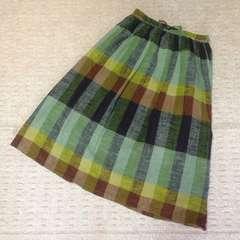 SM2*チェック柄ロングスカート