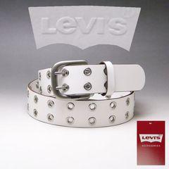LEVI'S リーバイス 牛革 ダブルピン ベルト 40mm 6090 ホワイト