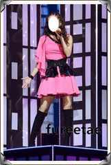 コスプレ衣装◆安室奈美恵 ピンクドレス ベルト 小物付き